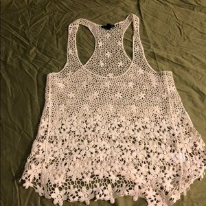 Small Fang crotchet tank